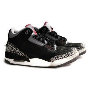 Jordan retro 3 cement black sneakers